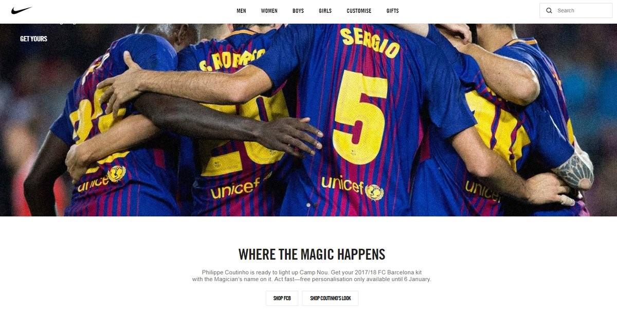 clásico cuchara Disfraz  Nike spark Philippe Coutinho transfer frenzy before deleting Barcelona post  - Eurosport