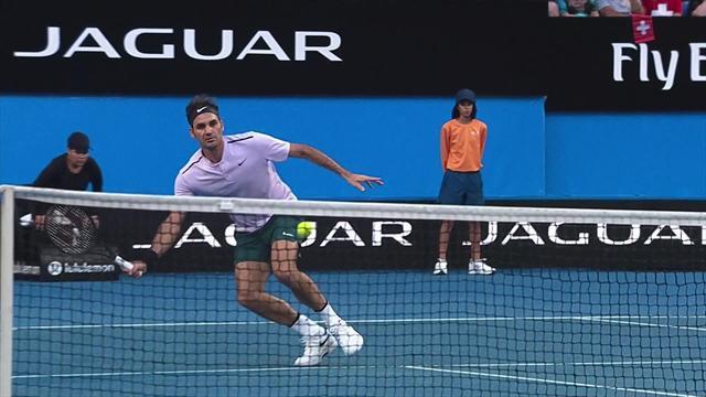 Revers, lift ou volée haute : en 2018, Federer n'a rien perdu de sa panoplie