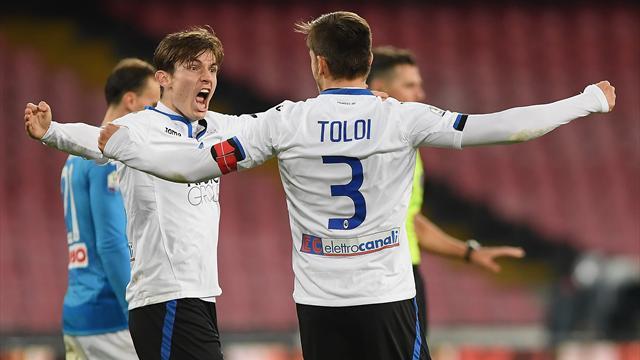 Atalanta upset Napoli to reach Coppa semi-finals