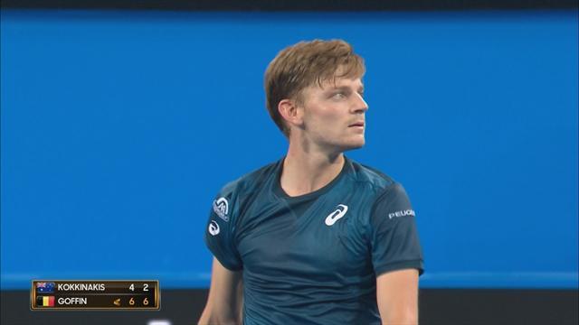 Malgré la belle résistance de Kokkinakis, Goffin a encore déroulé son tennis