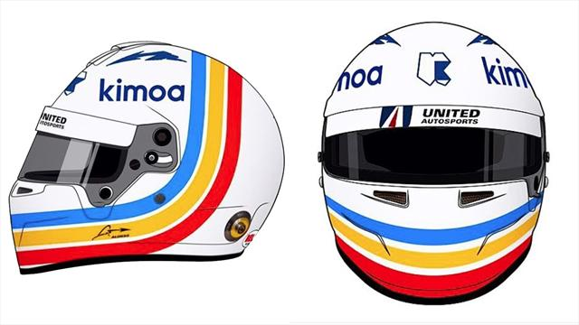 Fernando Alonso si prepara per la 24 Ore di Daytona: ecco il casco che indosserà