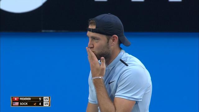 Federer a sorti la panoplie et Sock a fait preuve d'humour : le résumé en vidéo