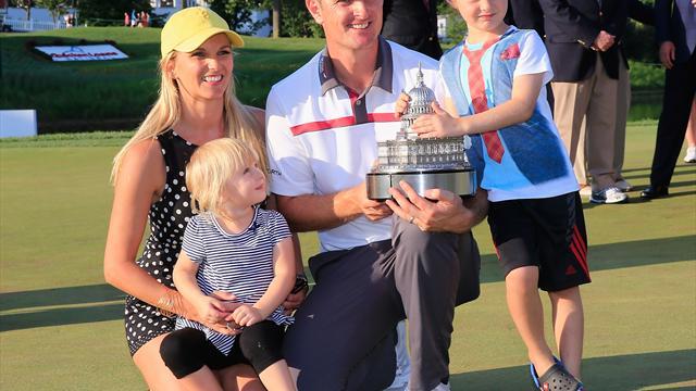 Ehefrau als Caddy: Golfprofi Rose feiert Hochzeitstag