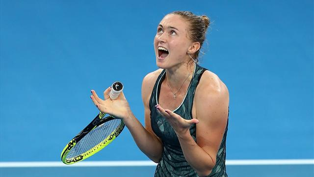 Johanna Konta forced out of Brisbane International with hip injury