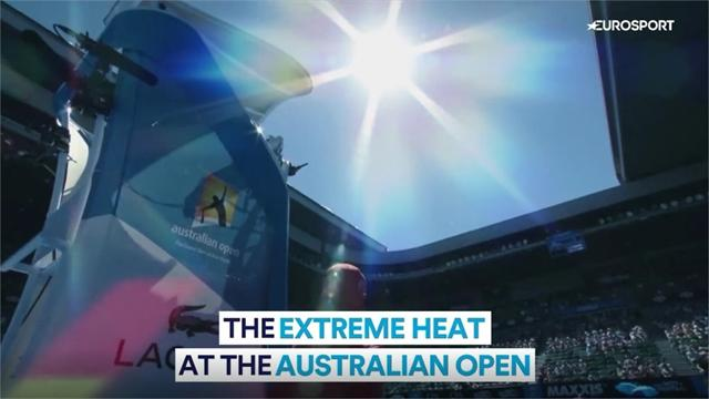Temperatures soar in Melbourne - how the scorching heat takes a toll on players