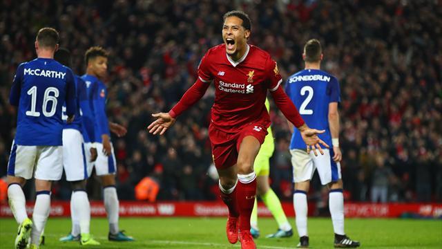 FA Cup, Liverpool-Everton: Van Dijk ya sale rentable (2-1)