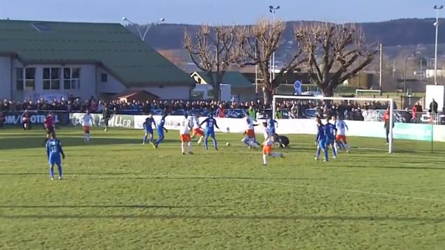 Un coup de billard et Montpellier ouvre le score à Pontarlier