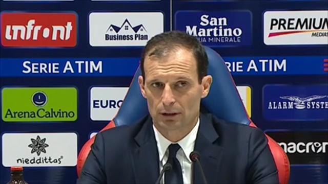 """Allegri: """"Partita sporca, il Cagliari non meritava di perdere"""""""