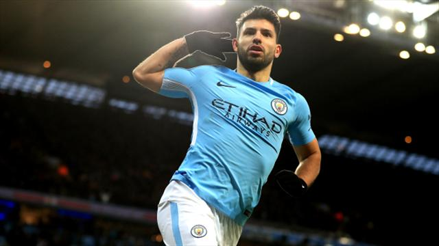 Aguero Double Keeps Man City Quadruple Hopes Alive