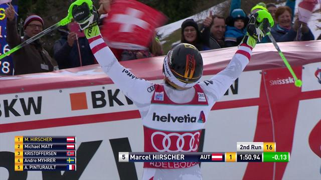 He's done it again! Hirscher does the double in Adelboden