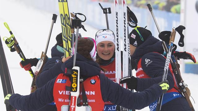 France end German dominance in women's relay