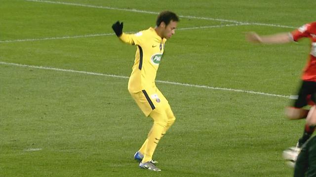 En caméra isolée, le but du 2-0 par Neymar