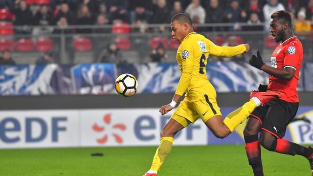 Copa de la Liga, Rennes-PSG: Pase a la final sufriendo tras la expulsión del VAR a Mbappé (2-3)