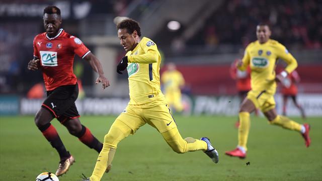 Neymar pour le 2-0 sur une action collective de grande classe du PSG
