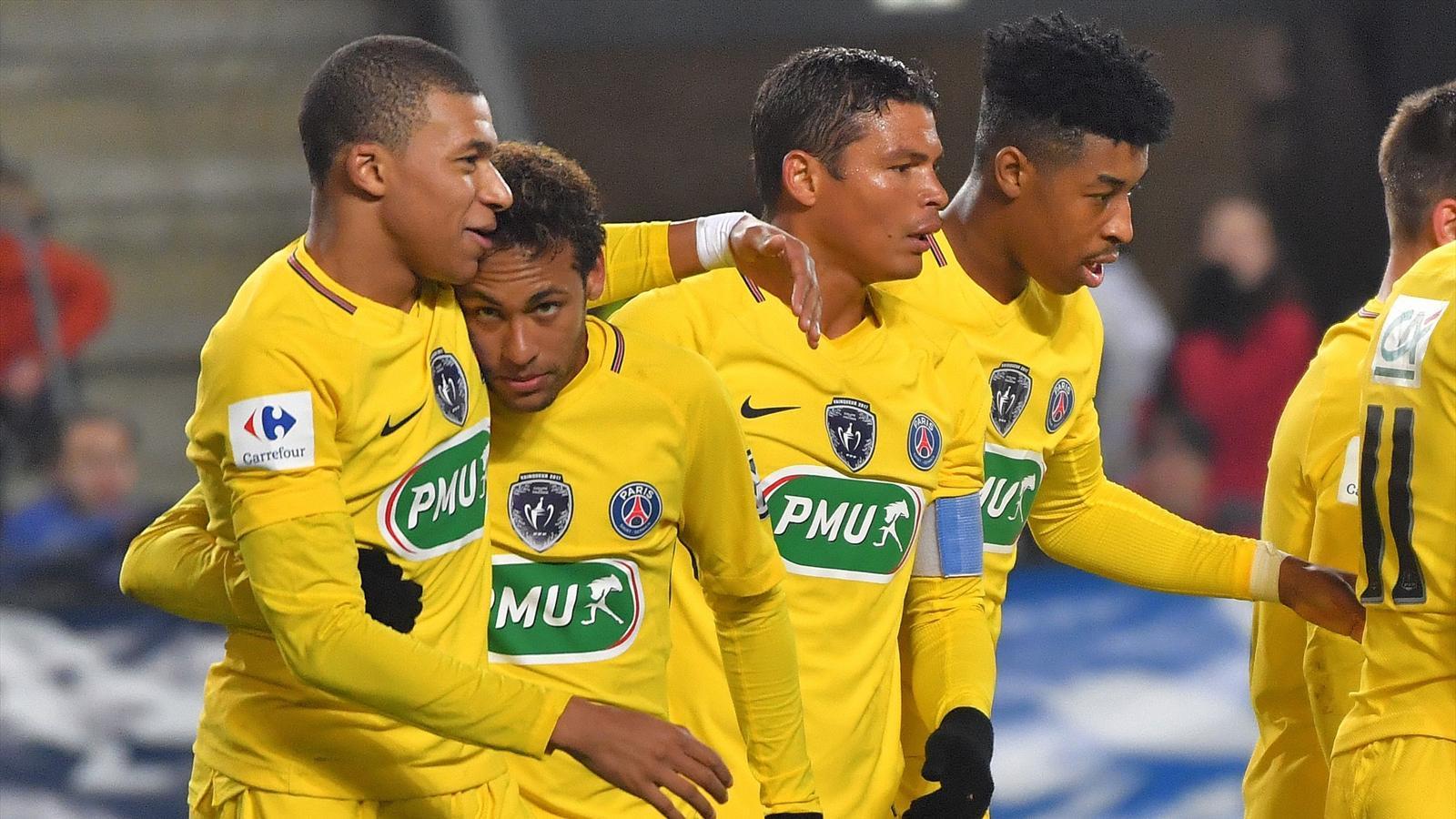 Le psg parpille rennes 1 6 pour se qualifier en 16e de finale coupe de france 2017 2018 - Coupe de france football calendrier ...