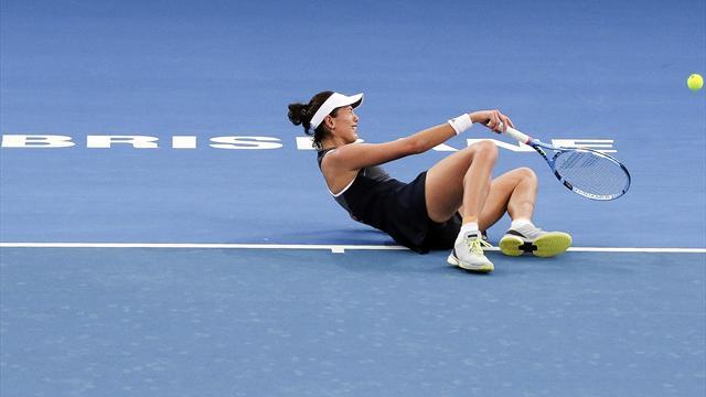La tenista Garbiñe Muguruza abandona el torneo de Sidney lesionada