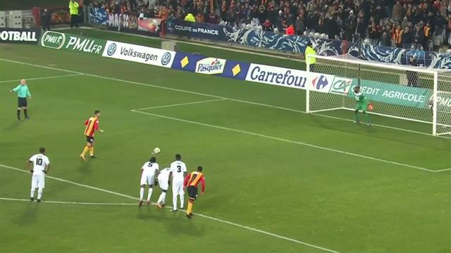 D'un penalty imparable, Lopez avais remis les Lensois dans le match : le but du 1-1