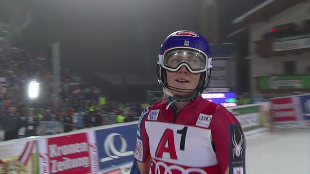 Unglaubliche Aufholjagd: Shiffrin rast zum Slalom-Sieg
