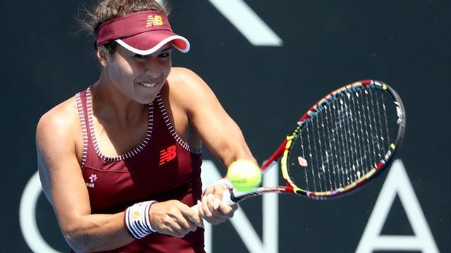 Watson advances in Hobart, Sabalenka upsets Zhang