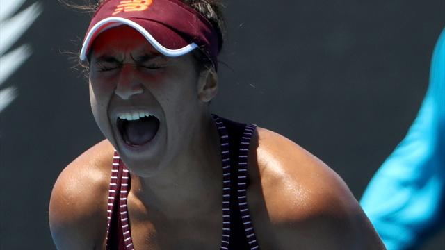 Watson almost double bagels Vekic in Hobart thrashing