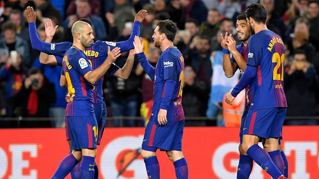 Messi stars as Barca thrash Celta in the cup