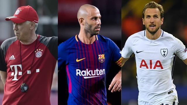 Kane, Mascherano y Ancelotti, los nombres del día