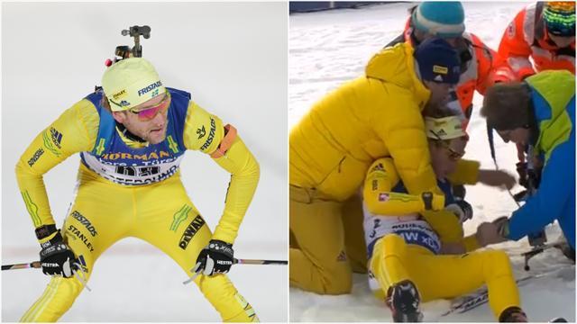 Norsk-svensk skiskytter til sykehus i ambulanse