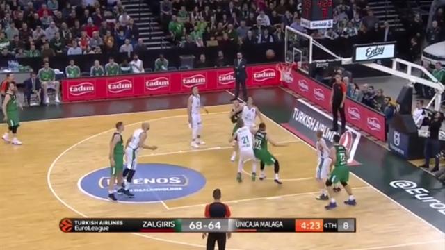 Highlights: Zalgiris Kaunas-Unicaja Malaga 79-77