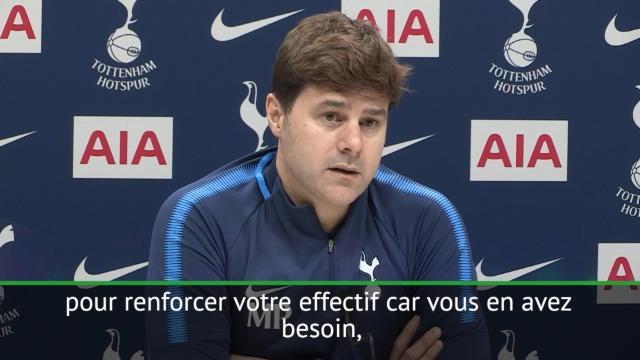 """Tottenham - Pochettino : """"Difficile de recruter en janvier"""""""