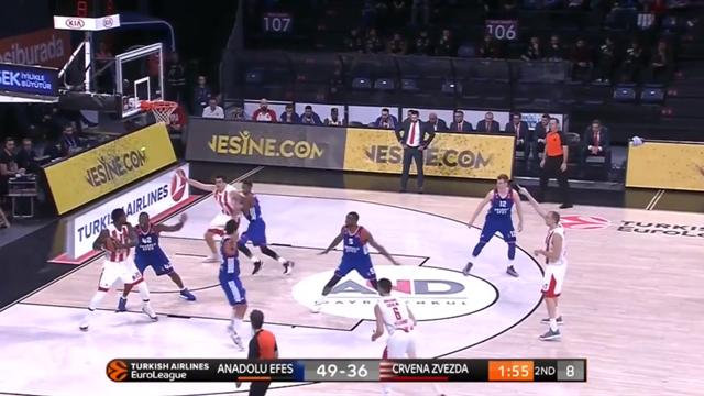 Highlights: Anadolu Efes Istanbul 104-95 Red Star Belgrade