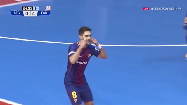 LNFS, Naturpellet Segovia-Barcelona: Adolfo se reencarna en el mismísimo Messi (0-4)
