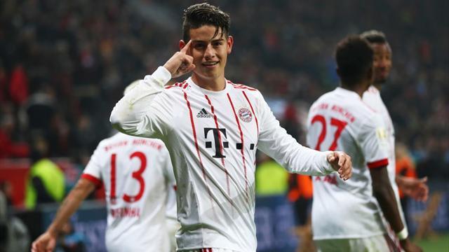 Il Bayern Monaco riparte con una vittoria: 3-1 al Bayer e che magia di James su punizione