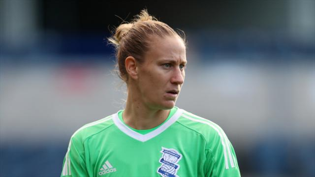 Ann-Katrin Berger back training with Birmingham City Ladies after cancer op