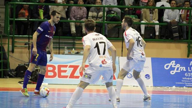 LNFS, Naturpellet Segovia-Barcelona: Atracón de goles (7-8)