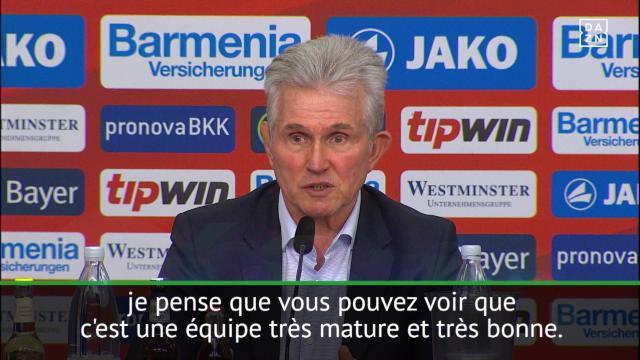 """18e j. - Heynckes : """"Nous avons une équipe très mature"""""""