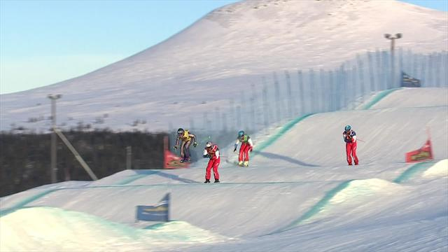 Fiva pitch: Victory for Swiss in knife-edge ski cross