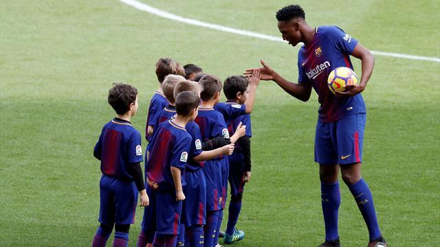 """Yerry Mina, emocionado en su presentación con el Barça: """"Quiero hacer historia aquí"""""""