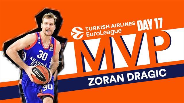 Zoran Dragic MVP della 17a giornata di Eurolega: l'ex Milano è perfetto al tiro