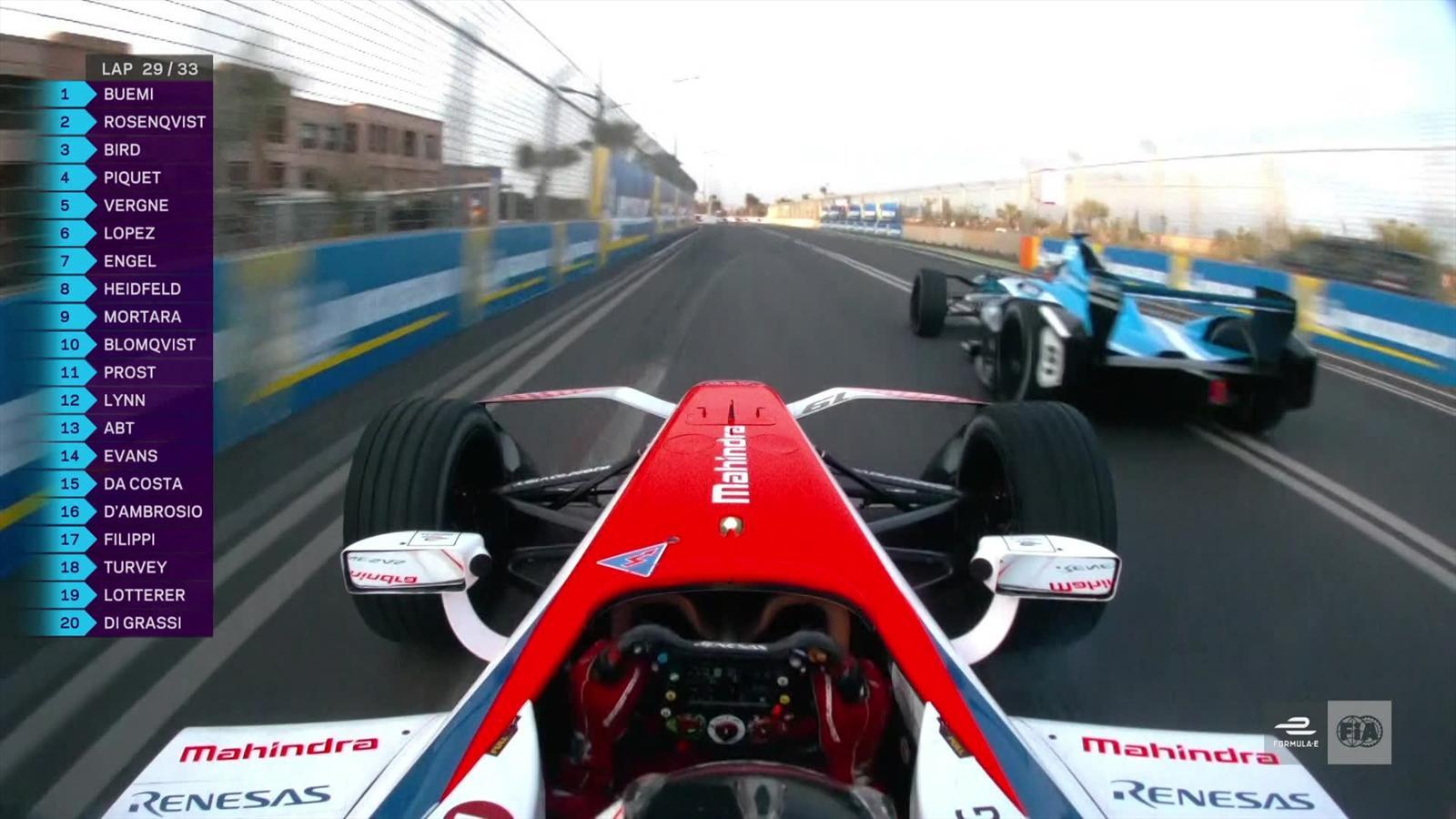 Video formule e le d passement de rosenqvist mahindra sur buemi renault eprix - Formule vitesse de coupe ...