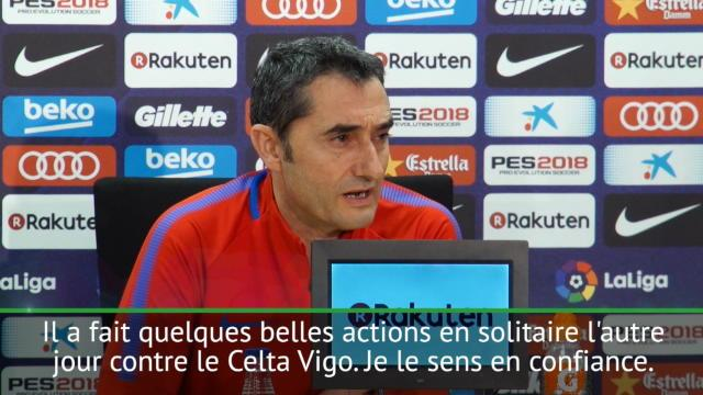 Valverde se montre rassurant pour Dembélé