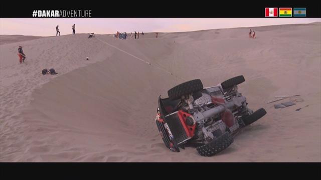 Near misses and stranded trucks - when the Dakar goes wrong