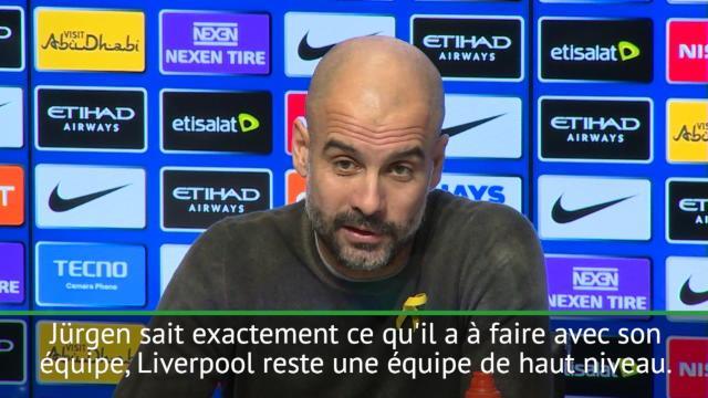 """23e j. - Guardiola : """"Même sans Coutinho, Liverpool est une équipe de haut niveau"""""""