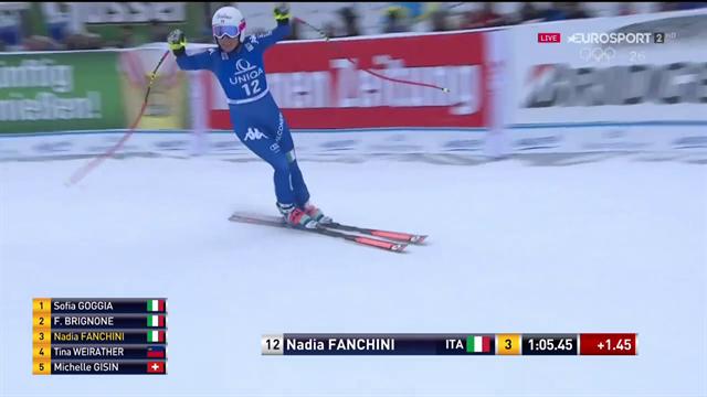 Nadia Fanchini completa il podio tutto azzurro: è festa Italia a Bad!