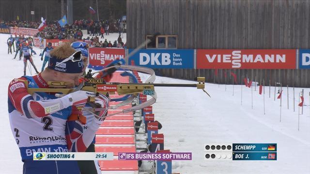 Boe beats Fourcade in Biathlon World Cup