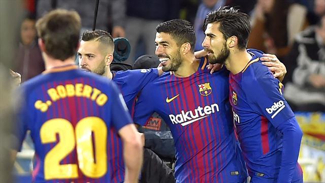 Même à réaction, le Barça stoppe la malédiction Anoeta