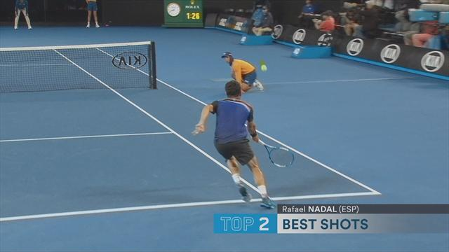 Open Australia 2018: El puntazo de Rafa Nadal brilla en el Top 5 de la primera jornada