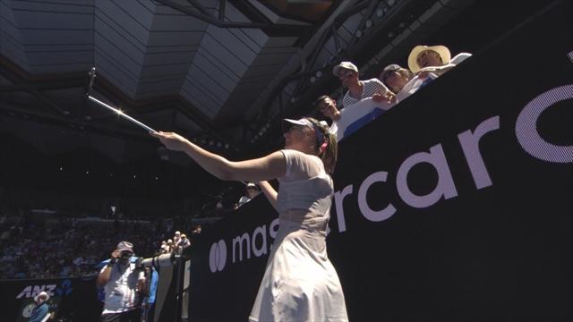Sharapova se prend en selfie... pour le bonheur de ses fans