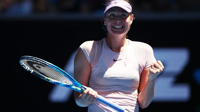 Sharapova safely through after win over Maria