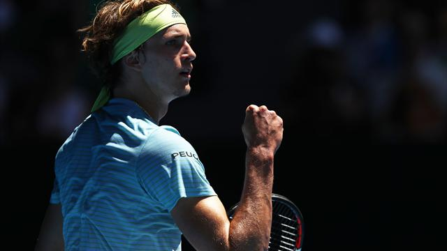 Zverev earns straight-sets win in first round