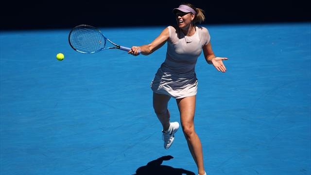 Puissante et précise, Sharapova a tout bien fait pour se hisser au 2e tour